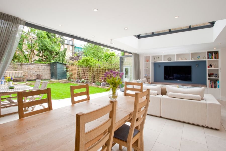 Clapham South, Side Extension, Kitchen Extension, Victorian Terraced House,  Bi Fold