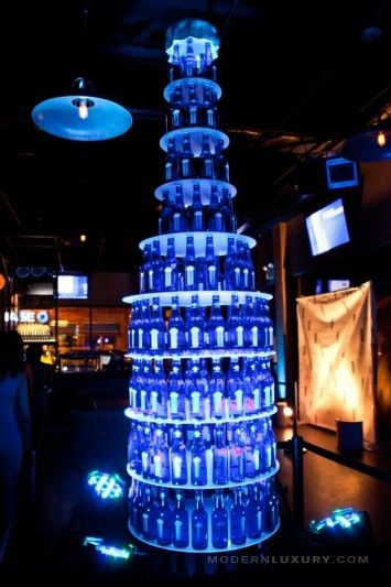 Bud Light Platinum Bottle Display Visual Merchandising