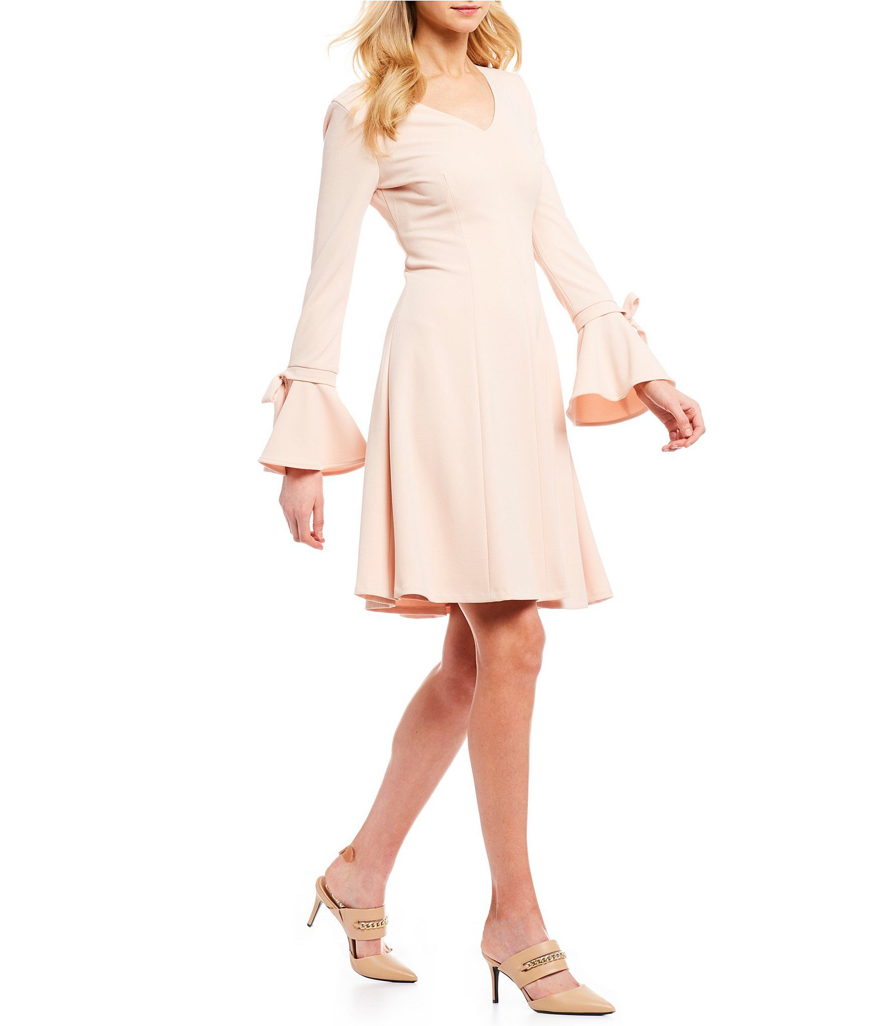 6760ada57ac Shop for Calvin Klein A-Line Ribbon Tie Bell Sleeve Dress at Dillards.com.  Visit Dillards.com to find clothing