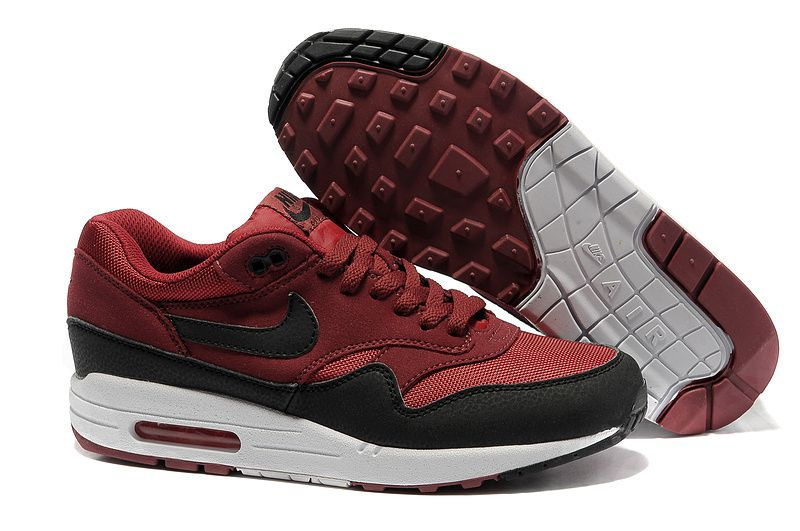 Nike Air Max 87 mens dark red black