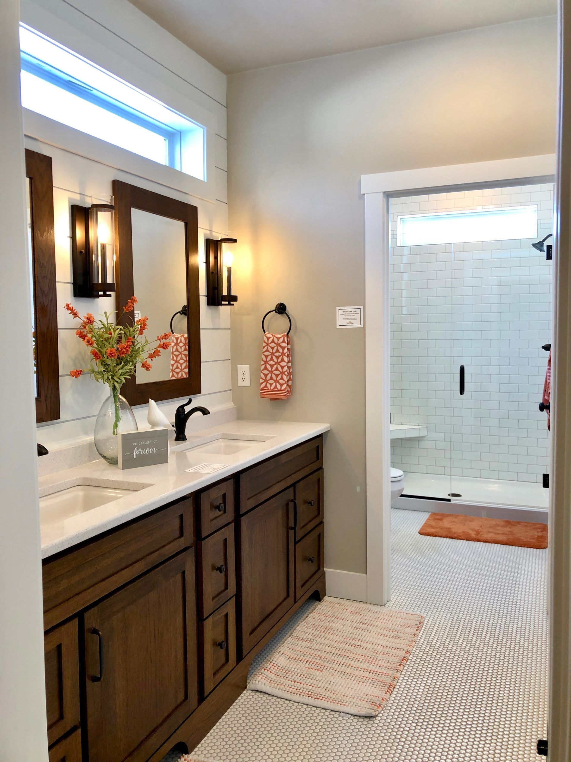 Fresh Bathroom with Bright, Cheerful Colors in 2020 Home