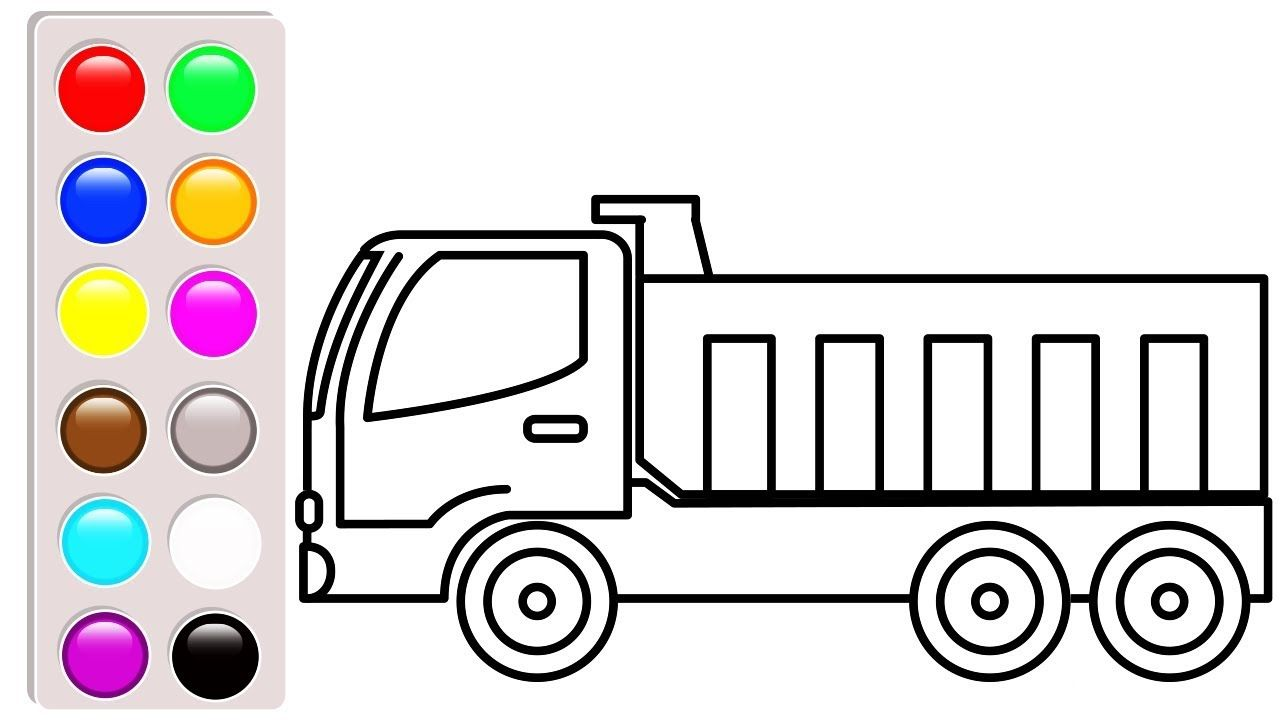 Construction truck coloring book, Dump truck coloring pages ...