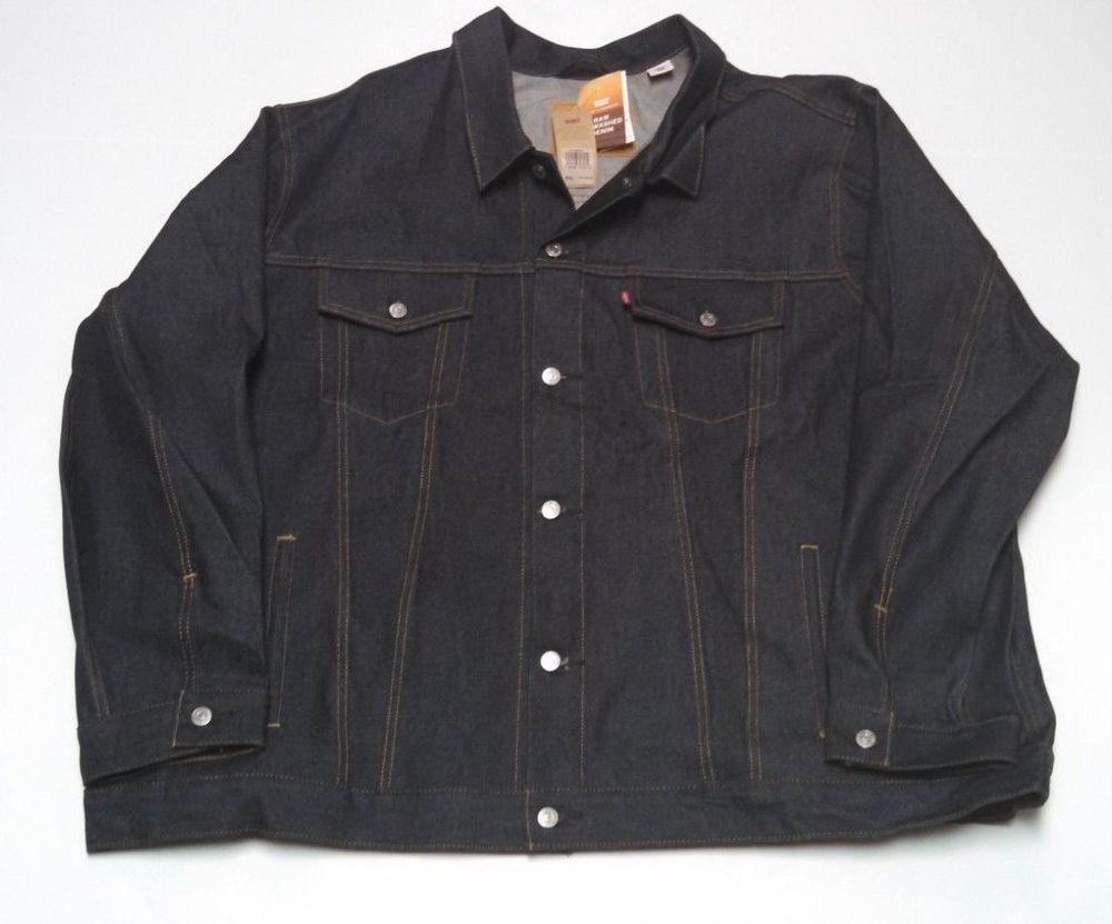 Mens Levis Denim Trucker Jacket 5xl Raw Denim Button Front Blue Jean Jacket Levis Denimjacket Mens Outfits Denim Jacket Raw Denim [ 831 x 1000 Pixel ]