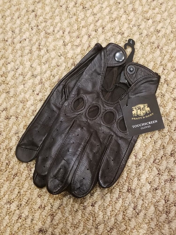 Pratt and Hart Mens Leather Driving Gloves