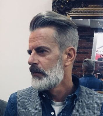 Great Gray In 2019 Beard Haircut Grey Beards Hair