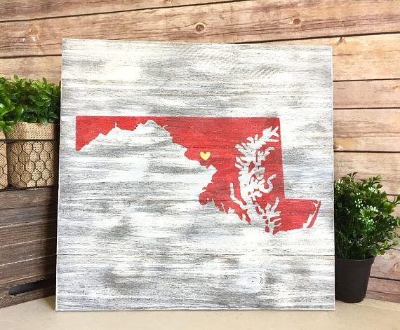 Maryland Wood Sign - State Pallet Sign - Custom Pallet ...