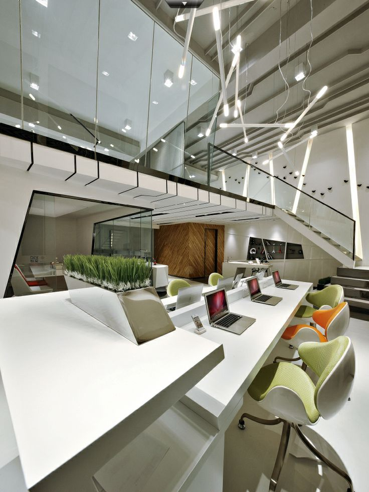 Cool Interior Office Designs With Plants: Designed By Yan Yanming