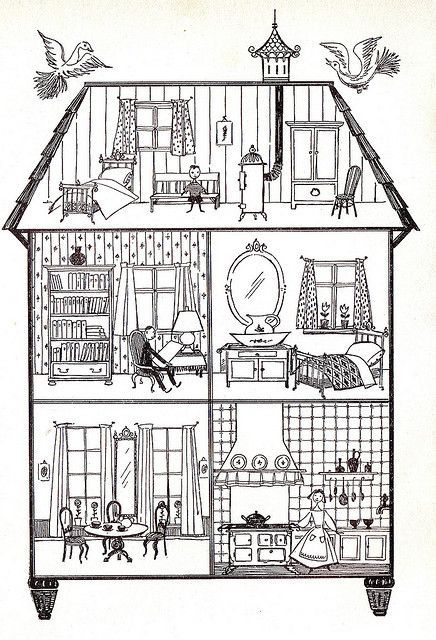 Inside House Drawing: Tilly's House By Faith Jaques