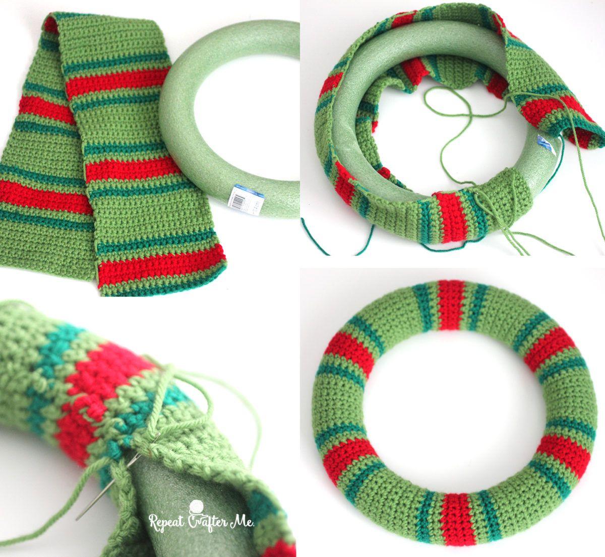 Crochet Christmas Wreath   Pinterest   Häkelmuster und Häkeln