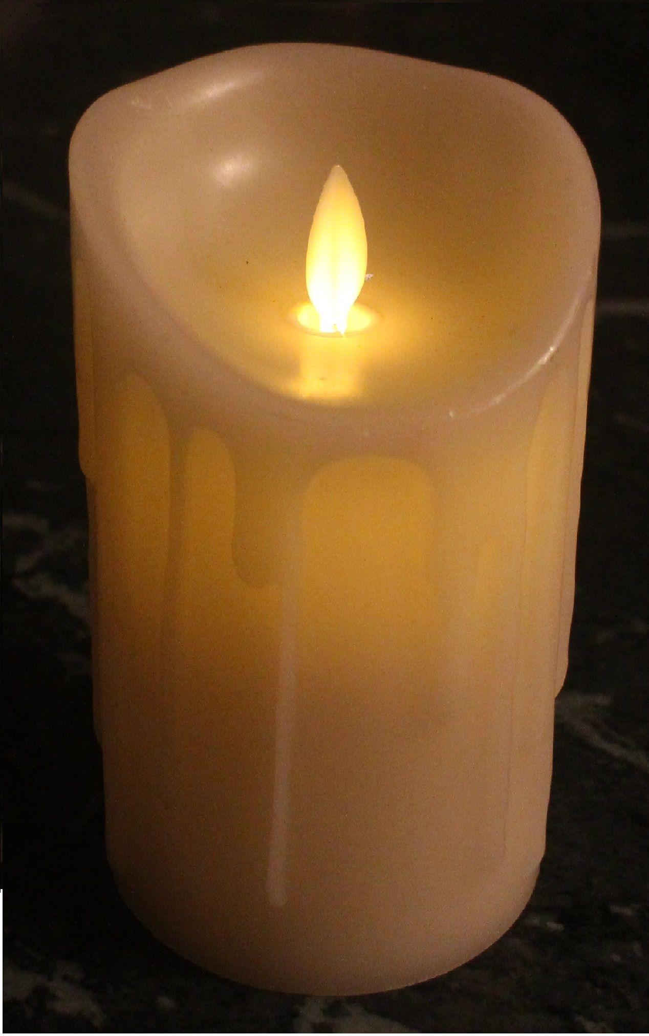 Vela led de parafina con llama móvil. Ideal para decoración de ...