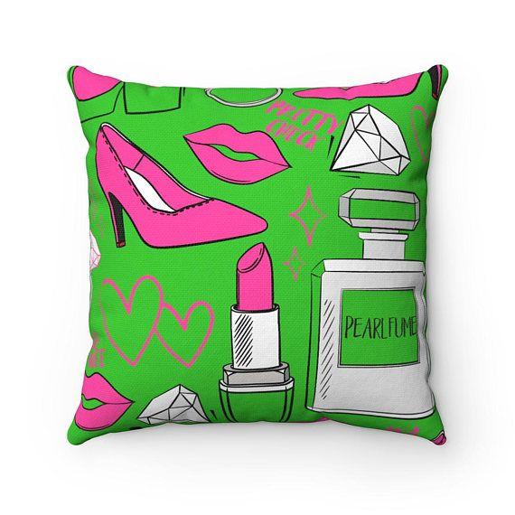 Green Aka Glam Decorative Pillow Alpha Ka Home Decor