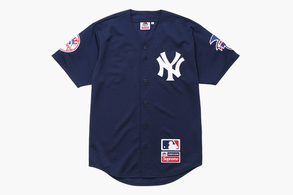 Camisa Esportiva Baseball MLB Feminina New York Yankees Listrada sem Nome