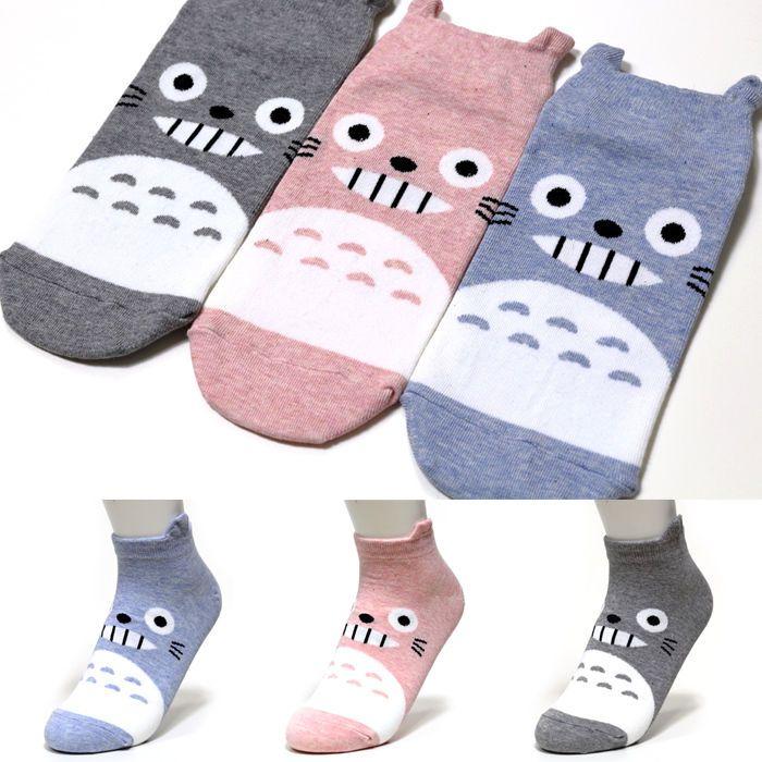 Korea Socks 4 Pairs Animation Cartoon Socks Women Girl Big Kid s Character Socks