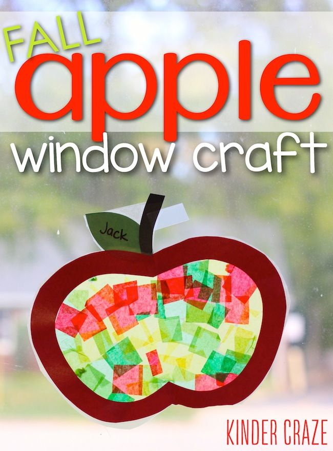 Apfel Fensterbild Apple Stained Glass Window Decorations + Free Template