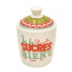 Pot à sucre « Joyeux p'tit déj » - Natives - Déco rétro & vintage