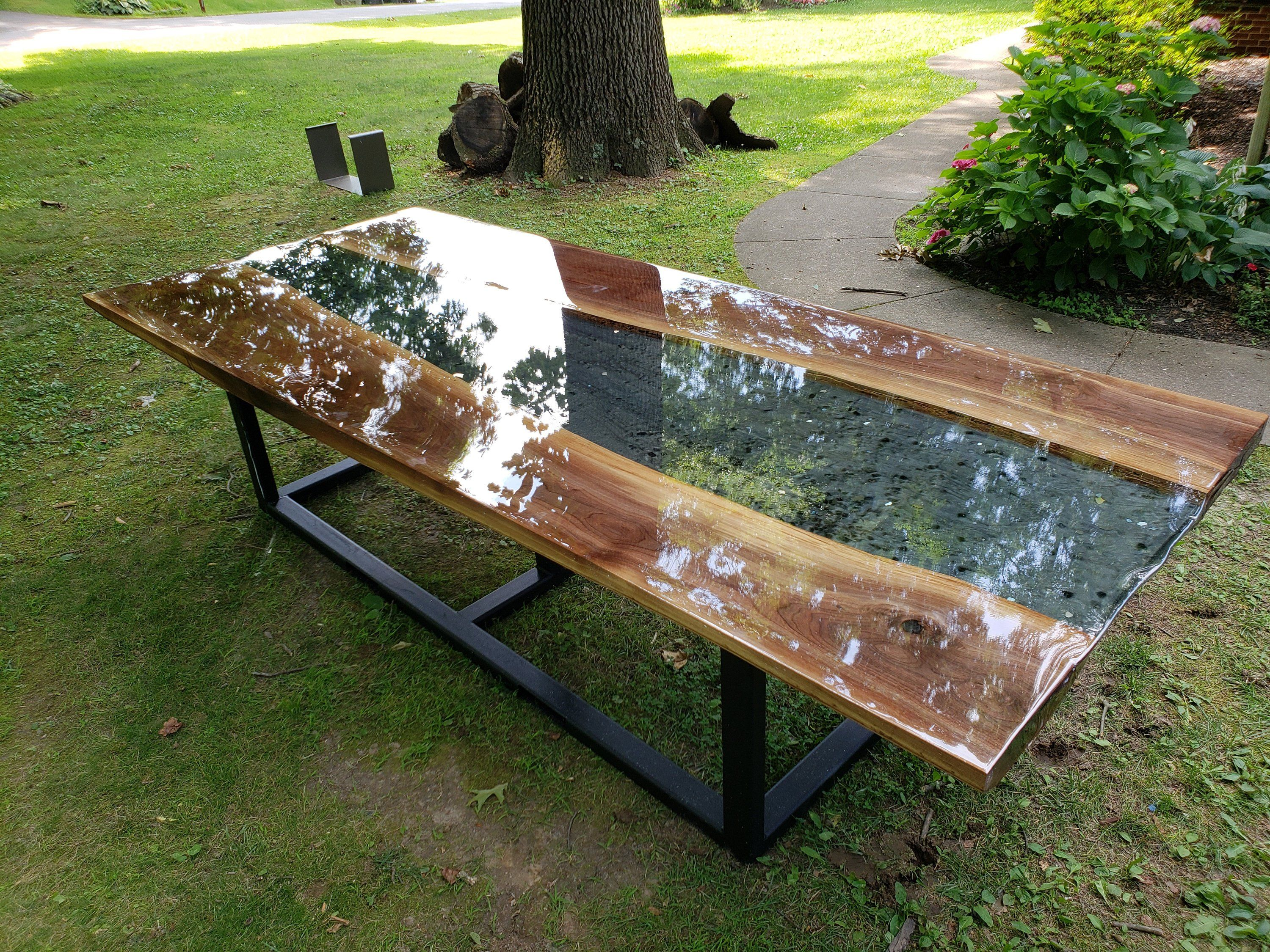 Live Edge Large Conference Table Epoxy River Table With Etsy In 2020 Outdoor Wood Furniture Wooden Outdoor Table Resin Patio Furniture