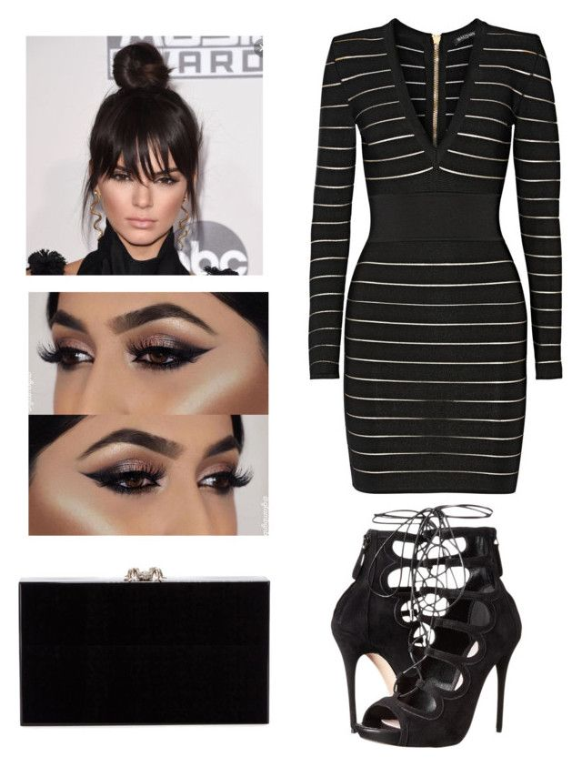 """""""Untitled #153"""" by courtneylfoxwelll on Polyvore featuring Balmain, Alexander McQueen and Charlotte Olympia"""