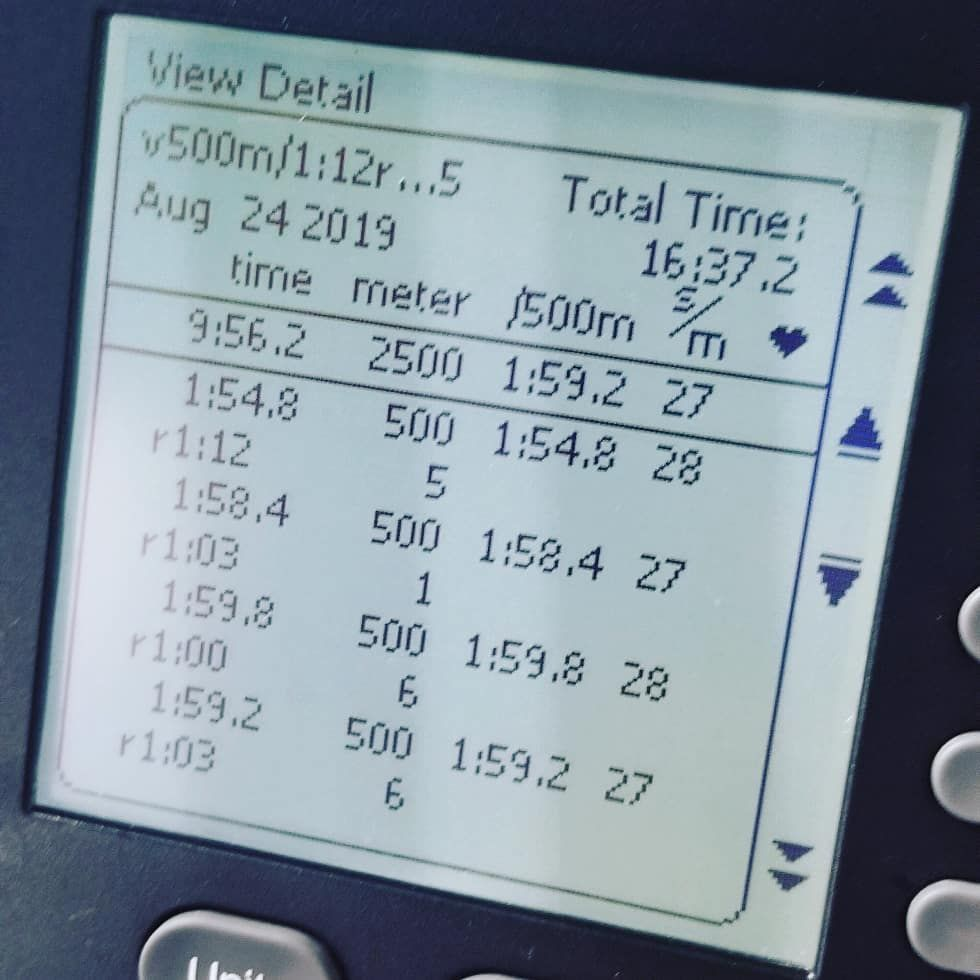 Part 1 and part 3 for the day's Saturday fun @crossfitbluemoon... Part 1 as 500m row with ME DUs in...