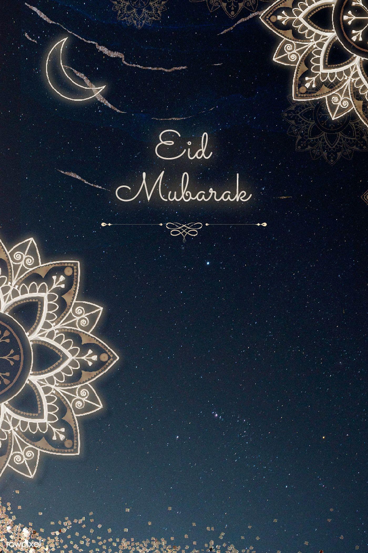 Download Premium Illustration Of Festive Eid Mubarak Greeting Card Template Kartu Lukisan Keluarga Desain Pola