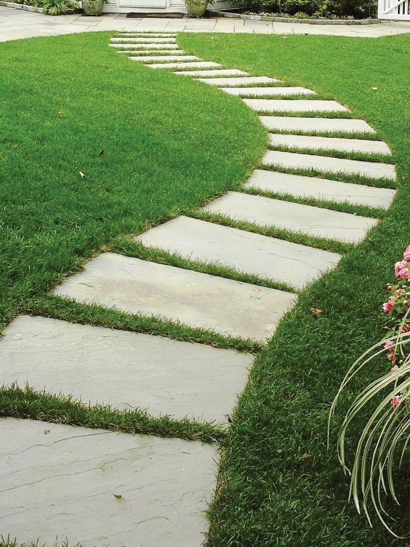 Best Cement Pavers Designs Ideas For Your Backyard Rengusuk Com Backyard Walkway Stepping Stone Walkways Stepping Stone Pathway