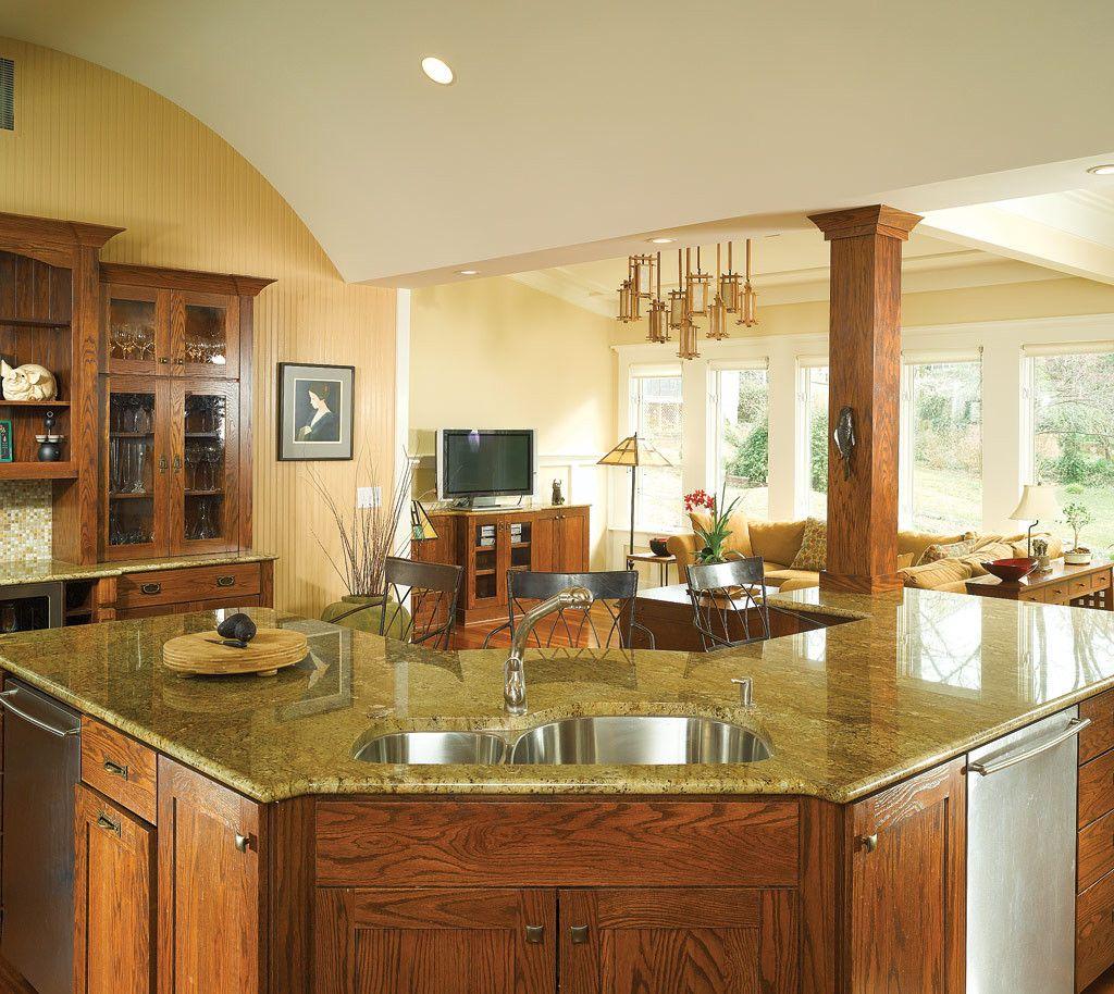 Golden Oak Kitchen Cabinets: Splendent Paint Colors For Kitchens With Golden Oak