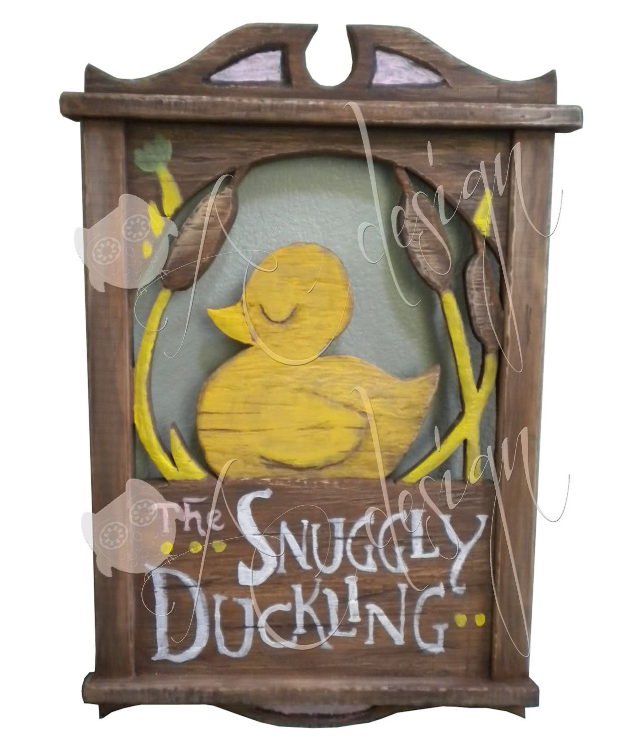 Tangled Birthday party decorations Snuggly Duckling sign ...