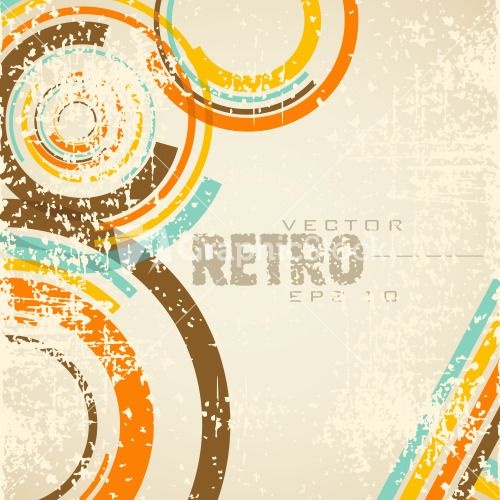 Retro Style Abstract Background With Grang And Eps 10 Vector Illustration. Stock Image