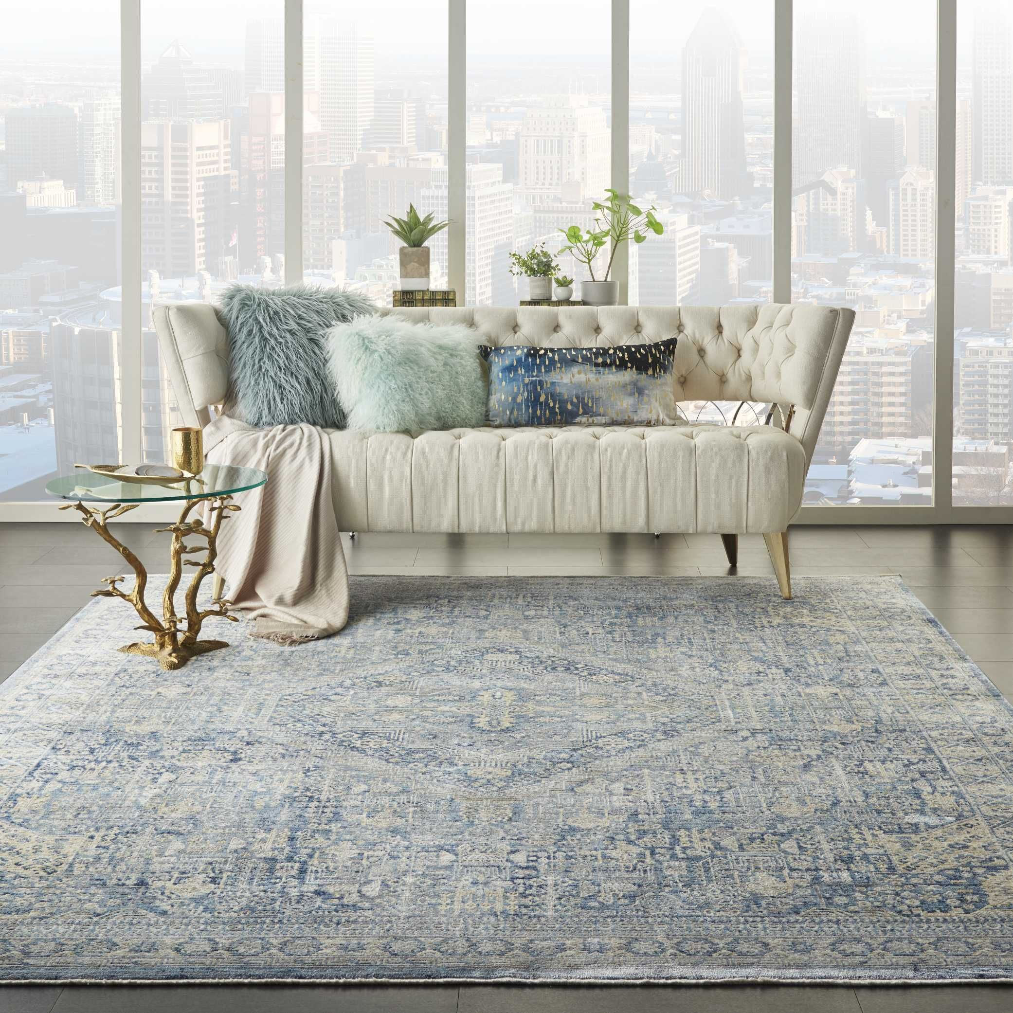 Lustrous Weave Luw02 Blue Ivory In 2020 Home Decor Area Rugs