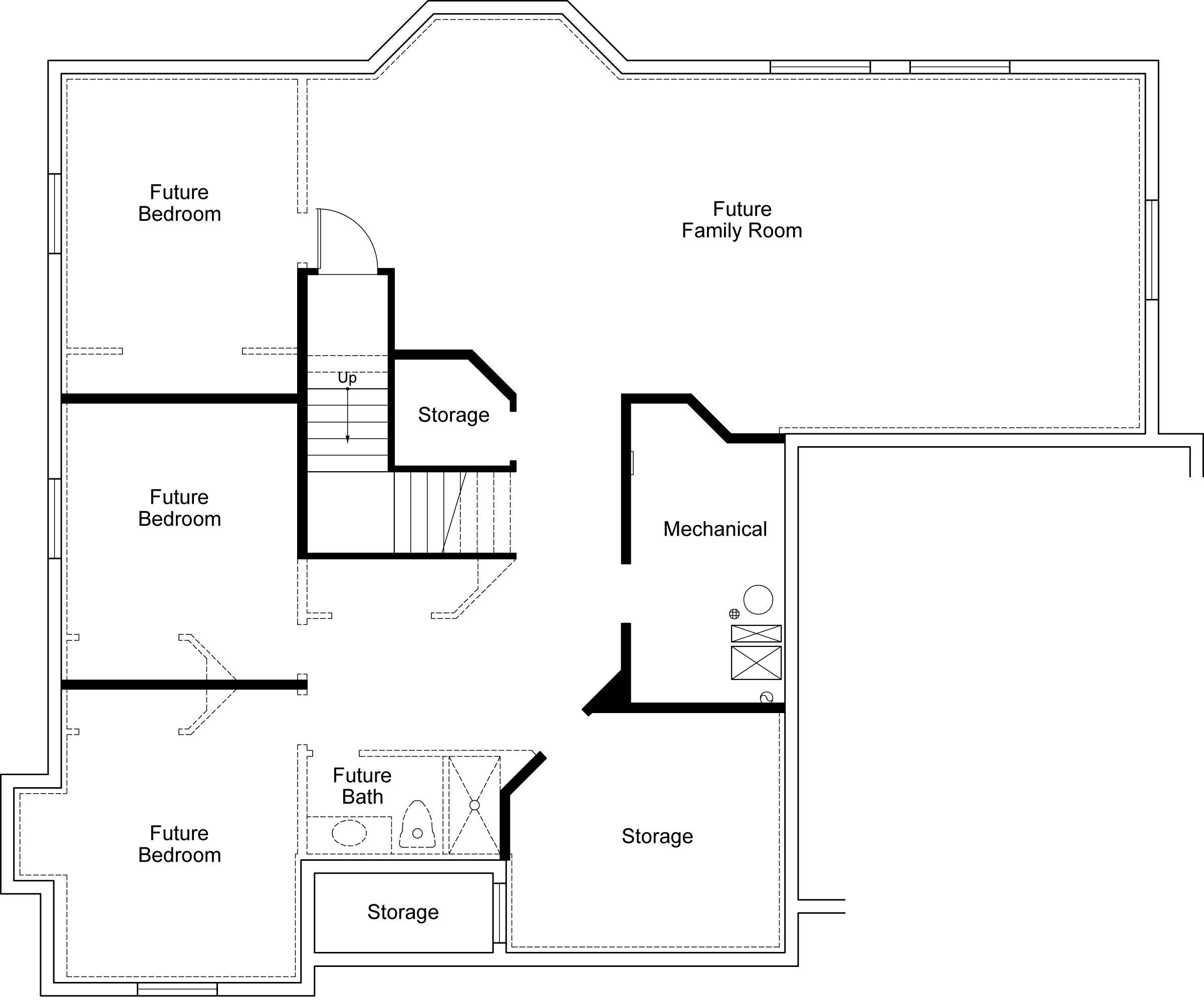 Home Design For New Homes In Utah Craftsman Floor Plans Floor Plans Family Room Storage