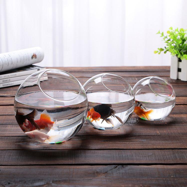 Decorative Glass Fish Bowls 2015 New  Clear Glass Bowl Vase Fish Tank Succulents Terrarium
