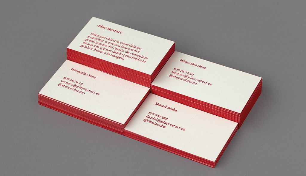 Colored edge business cards - 13 examples for inspiration | Business ...