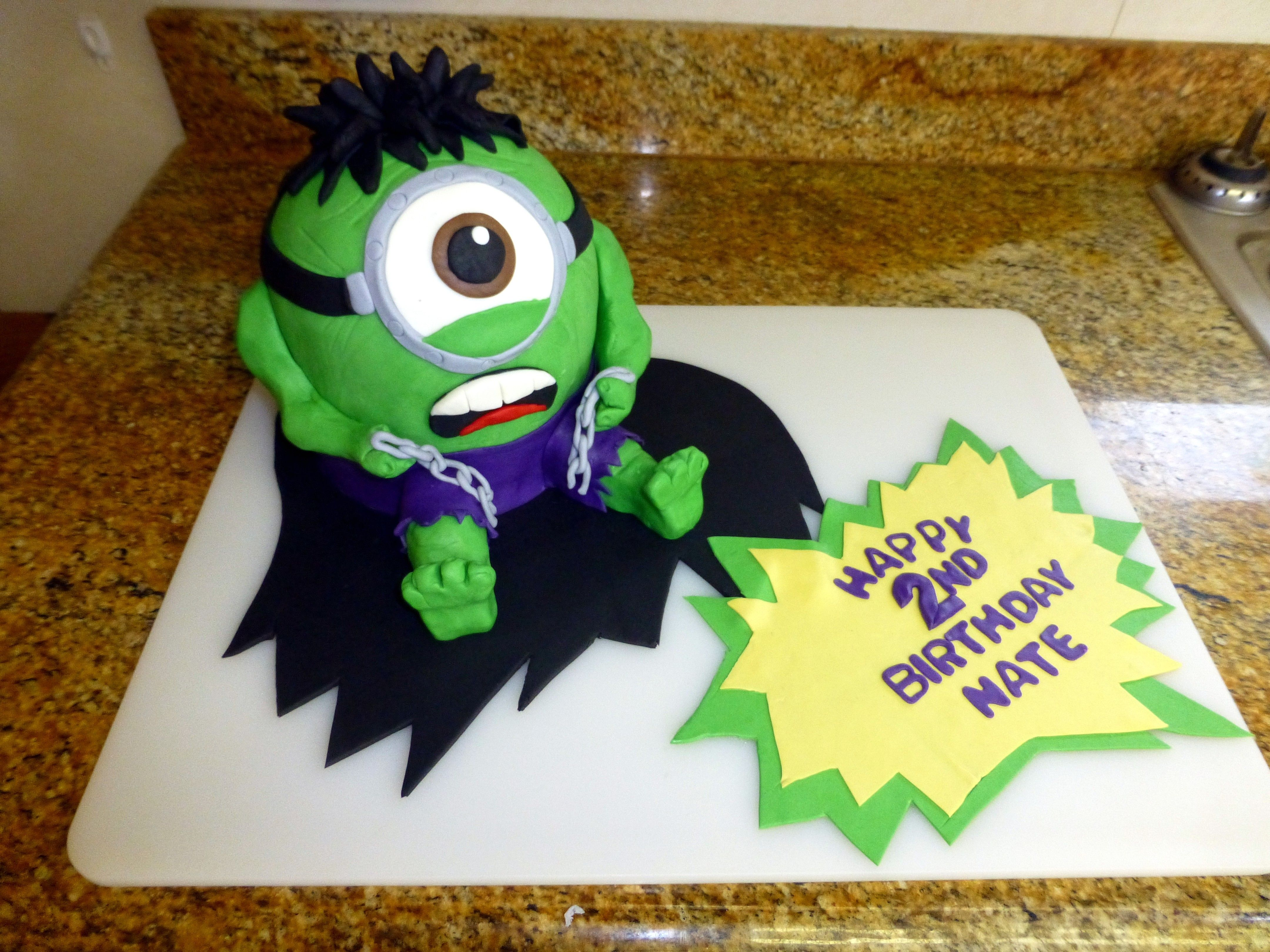 Hulk Minion Cake April 2014 Cakes and Goodies Ive Made