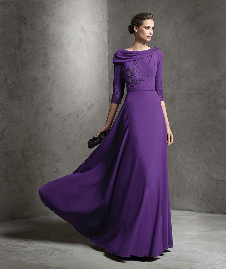 purple 3/4 length sleeve