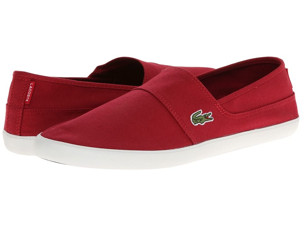 84e38bdb4fb04f LACOSTE LACOSTE - MARICE LCR (DARK RED DARK RED) MEN S SLIP ON SHOES.   lacoste  shoes