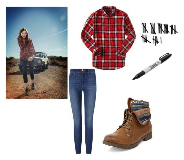 Spirit Week- Character Day- Amy Pond #characterdayspiritweek Spirit Week- Character Day- Amy Pond by adams-reagan-gca on Polyvore featuring Frame Denim and Sharpie #characterdayspiritweek