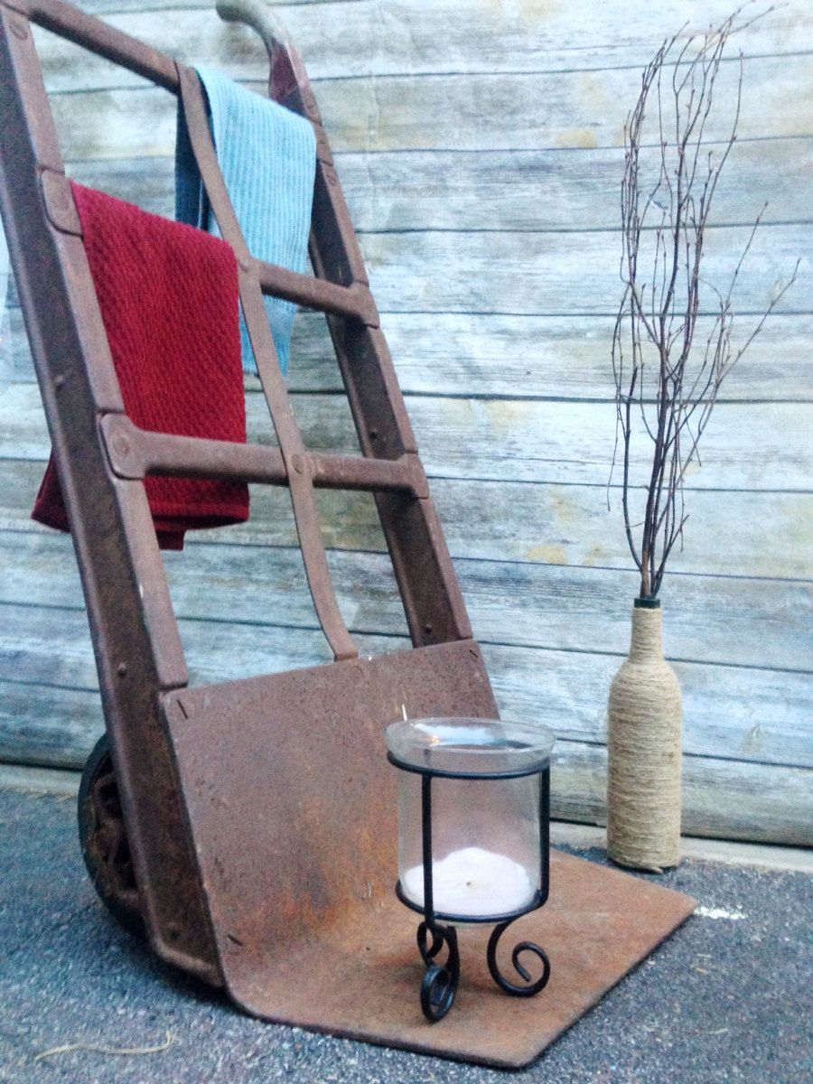 Vintage Antique Hand Truck Dolly Factory Cart-American Pulley Co ...