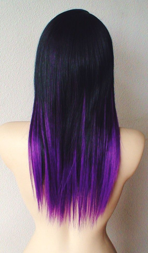 Black And Purple Hair Color Ideas
