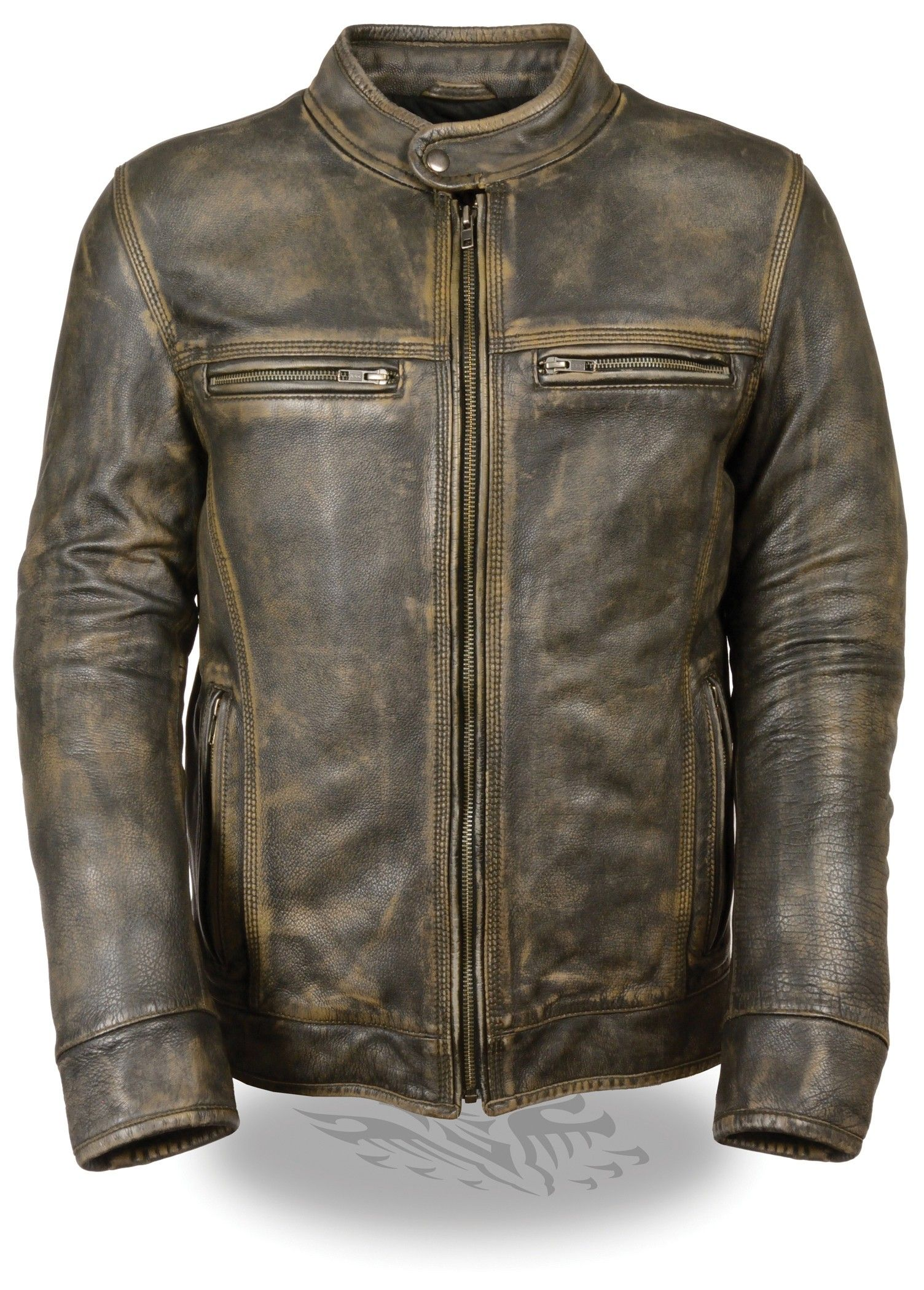 Milwaukee Leather Men's Distressed Brown Vented Scooter