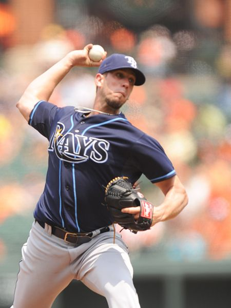 James Shields of the Tampa Bay Rays (Photo by Mitchell Layton/Getty Images)