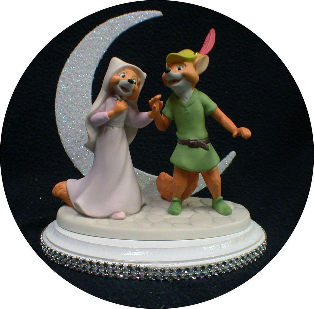 Disney robin hood maid marian wedding cake topper