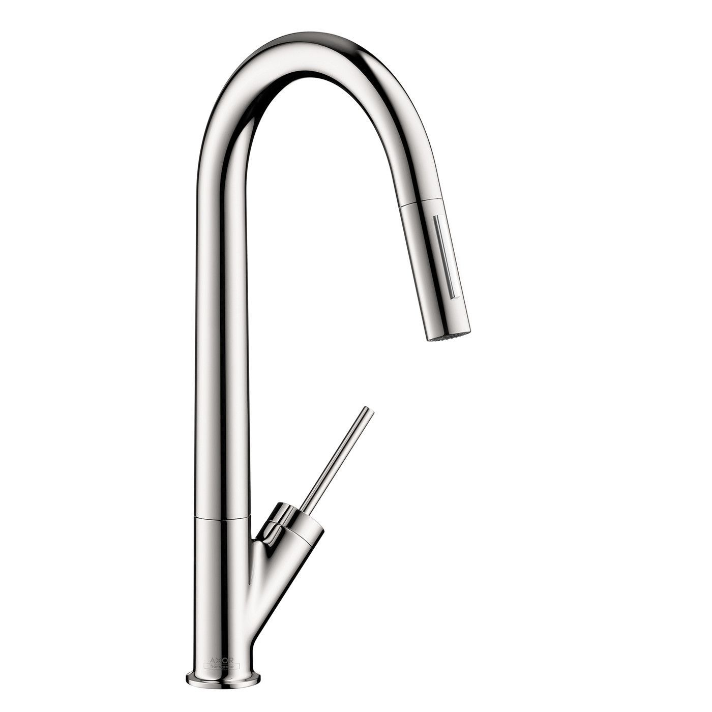 Hansgrohe 10821001 Chrome Axor Starck Pull-Down Kitchen Faucet with ...