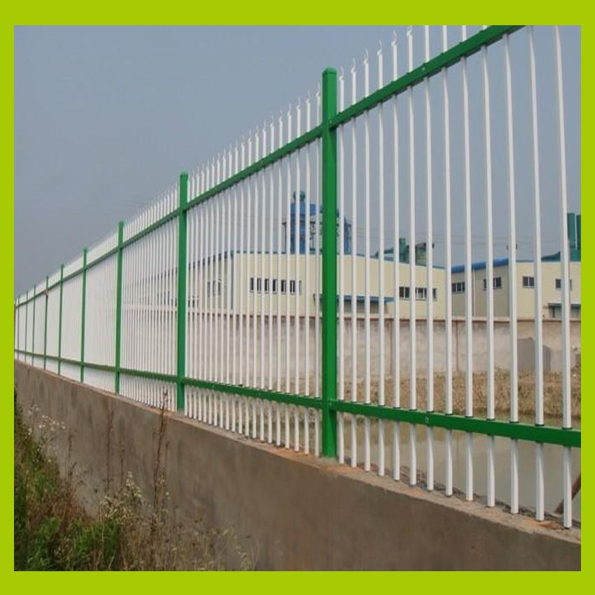 Metal Palisade Fencing Colorful Google Search Palisade Fence Concrete Fence Modern Fence