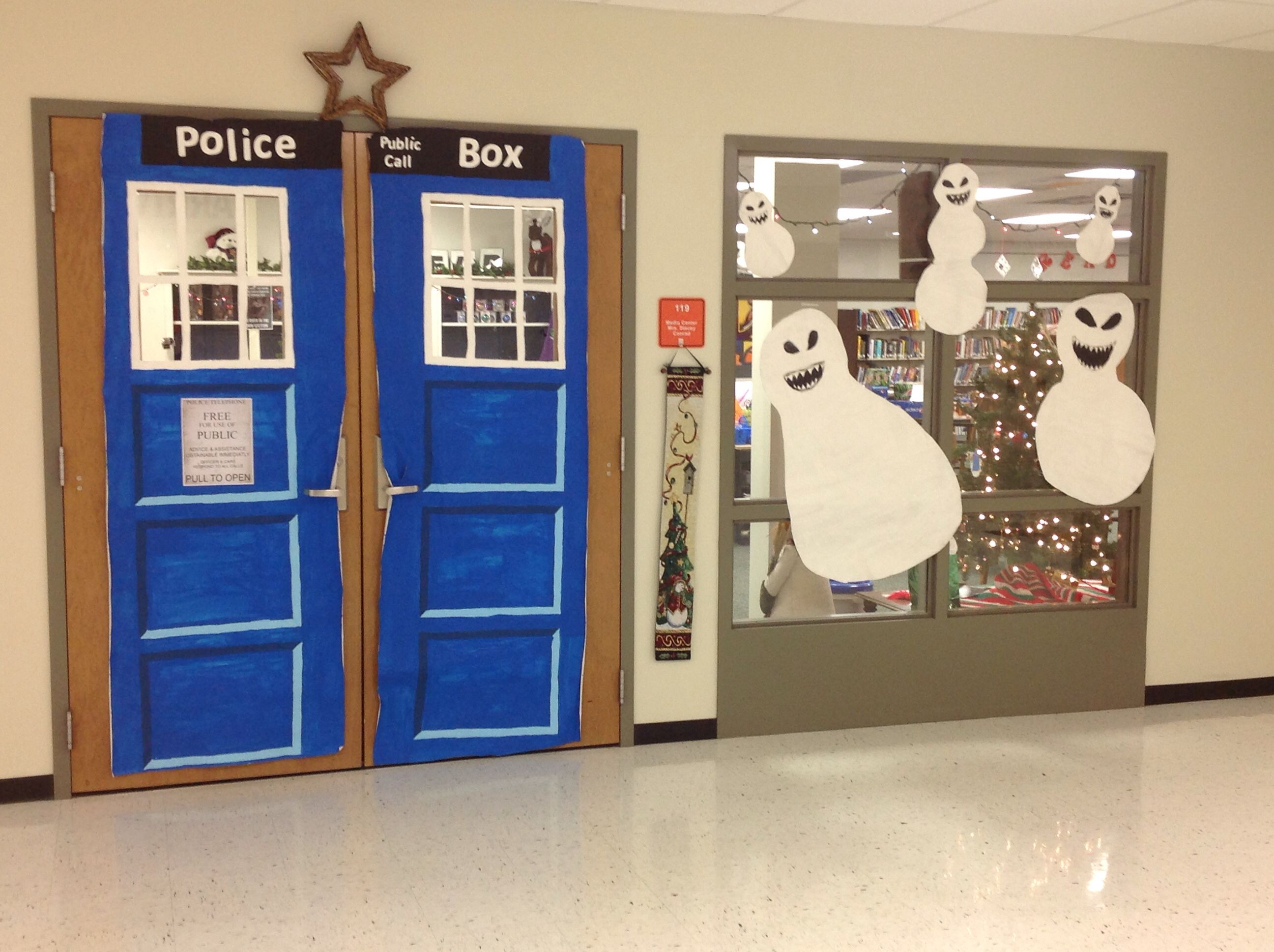 Our library doors this christmas display ideas pinterest