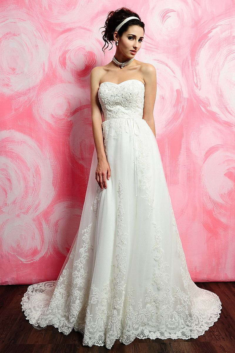 Embroidery A Line Sweetheart 2 Pieces Wedding Dresses | The art of ...