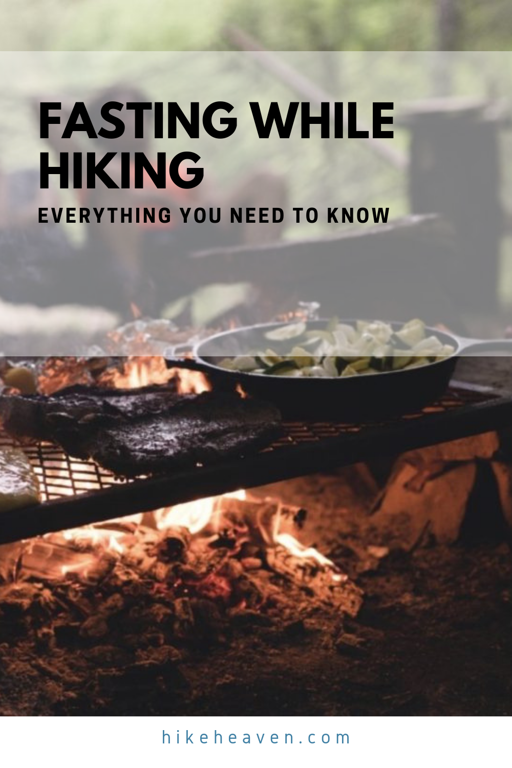 Learn everything you need to know about fasting while hiking! #hiking #fasting