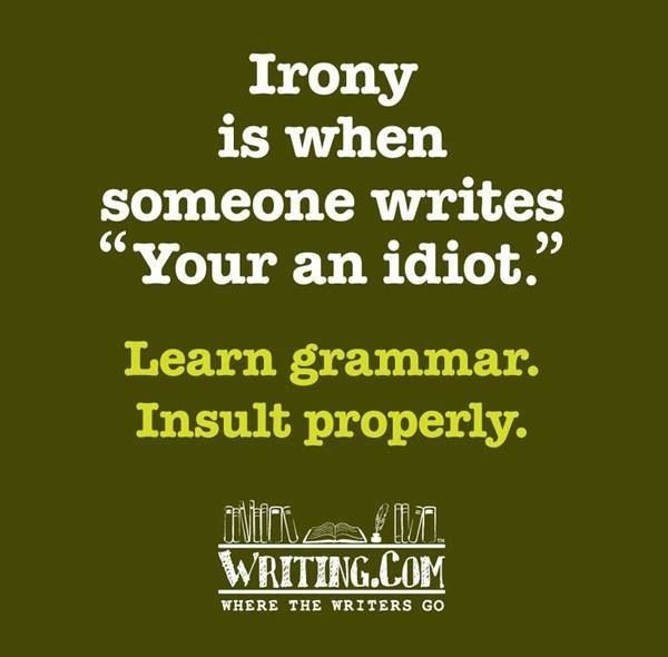 Irony and errors