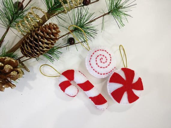 Christmas felt decoration set Christmas tree ornament candy