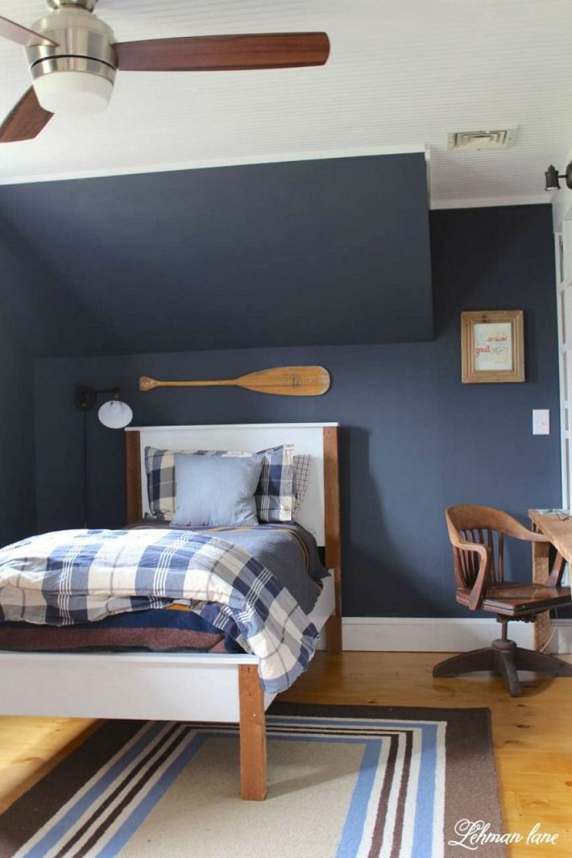 remarkable boys bedroom colors | Benjamin Moore Hale Navy: The Best Navy Blue Paint Color ...