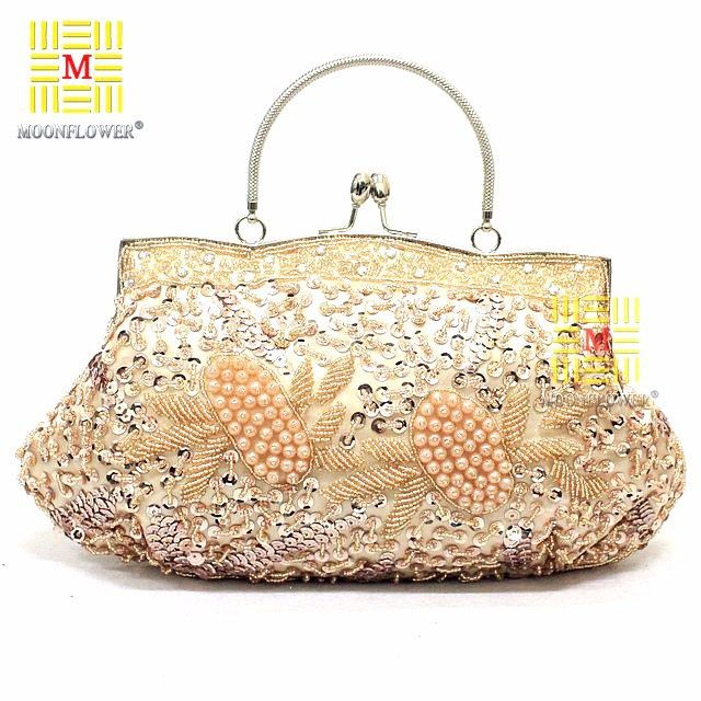 Women Elegant Grace Hand-Made Paillette Messenger Bag Ladies Fashion Beading Purse Cosmetic Bag Party Wedding ʊ ϟ ღWomen Elegant Grace Hand-Made Paillette Messenger Bag ʊ ϟ ღMessenger Bag Ladies Fashion Beading Purse Cosmetic Bag Party