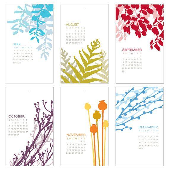 2012 Botanical Wall Art Calendar - I love this one. Think I\'ll get ...